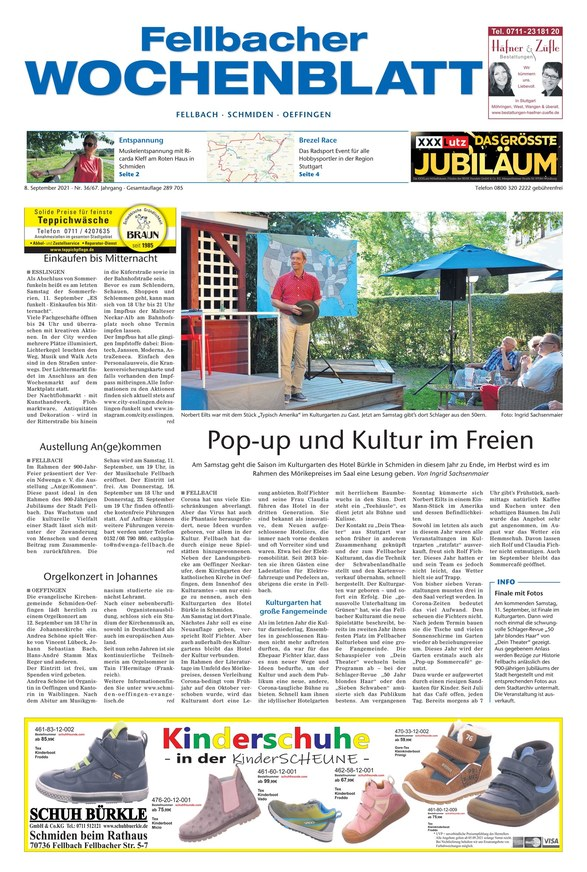 Fellbacher Wochenblatt 8.9.