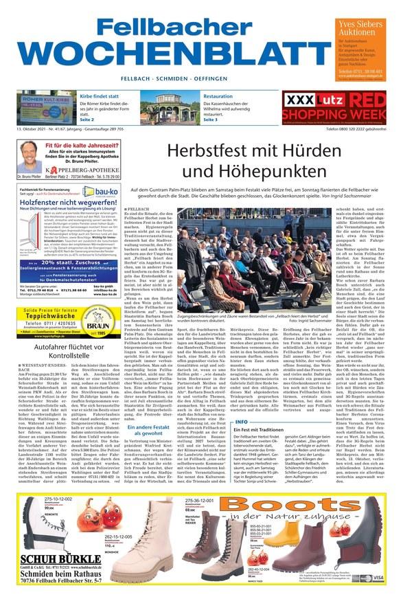 Fellbacher Wochenblatt 13.10.