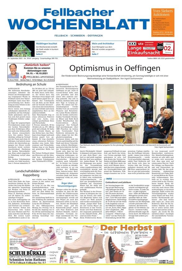Fellbacher Wochenblatt